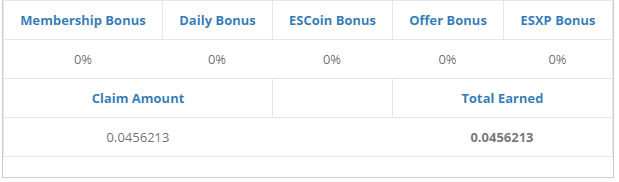 Doge claimed from a single Doge faucet claim at ES Faucet.
