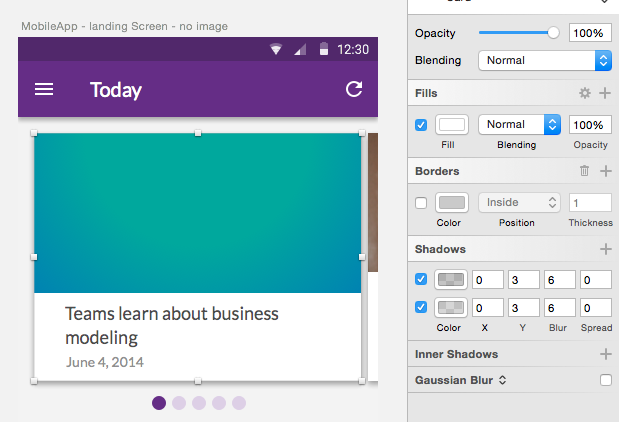 Material Design Elevation/ Shadows and CSS Buddy plugin For Sketch