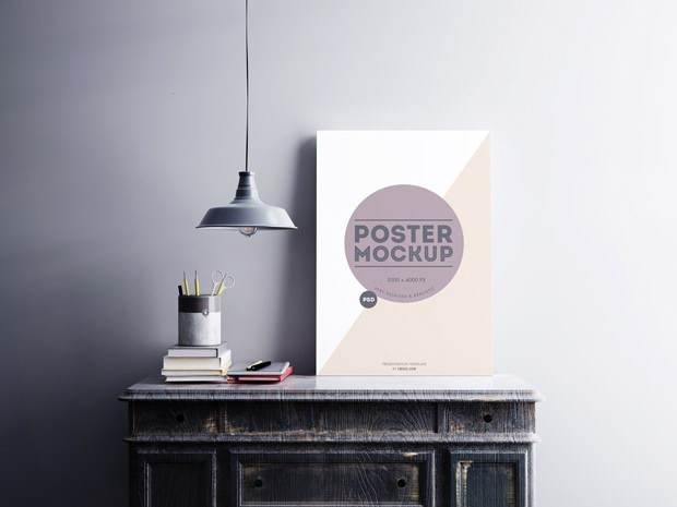 Free PSD Poster Mockups For Download - Visualmodo - Medium