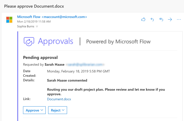 Requesting sign-off approvals on your OneDrive files
