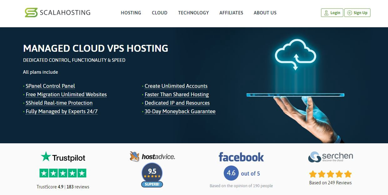 ScalaHosting — Cheapest Managed VPS