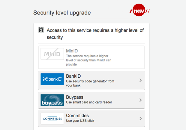 Access to this service requires a higher level of security