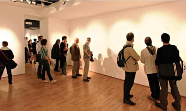 Gallery patrons take in Lana Newstrom's invisible art hoax