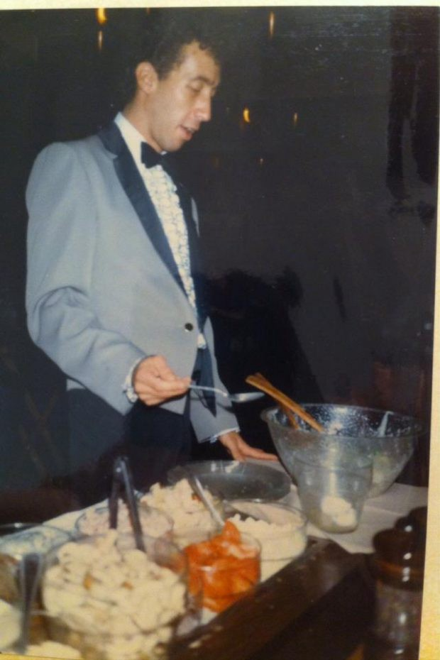 the franchise king preparing a tableside salad in Las Vegas