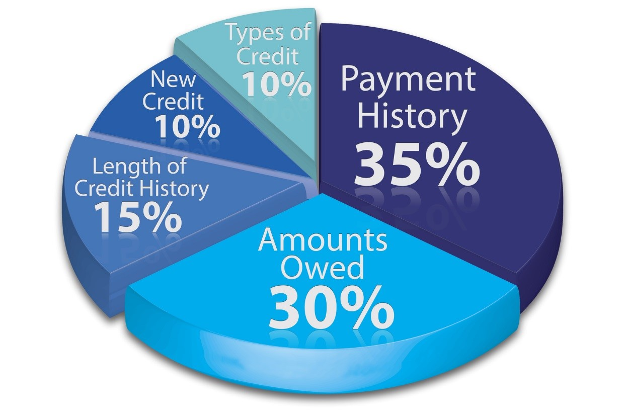 What Affect Credit Pie Chart