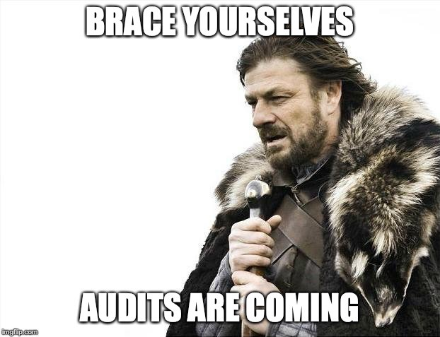 Brace yourselves, audits are coming.