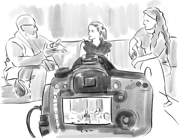 Illustration of my view of interviewing Christina