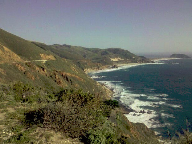 The ocean and mountains of Big Sur