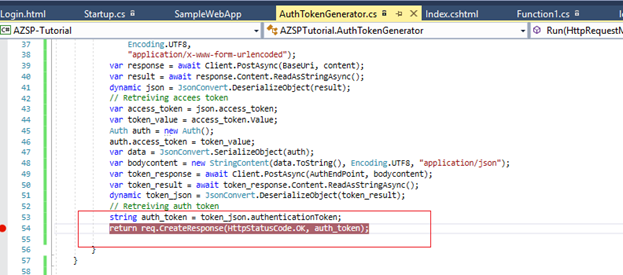 Securing an Azure Function API With Authentication Token