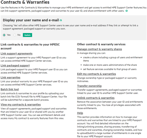 Creating a HPE Passport Account: Linking Warranties, Care