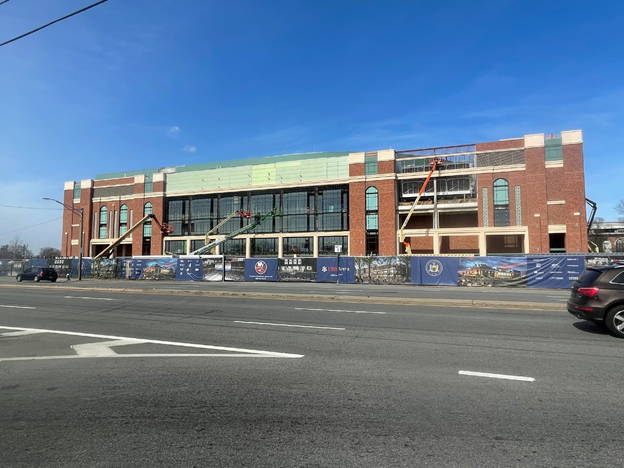 (IMAGE CAPTION: The UBS Arena, in Elmont, N.Y., March 2021)