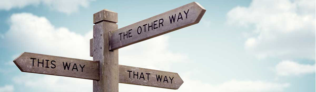 This way or that way signposts