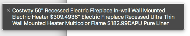 """Costway 50+ recessed electric fireplace in-wall wall mounted electric heater $309.4936"""" electric fireplace recessed ultra thi"""