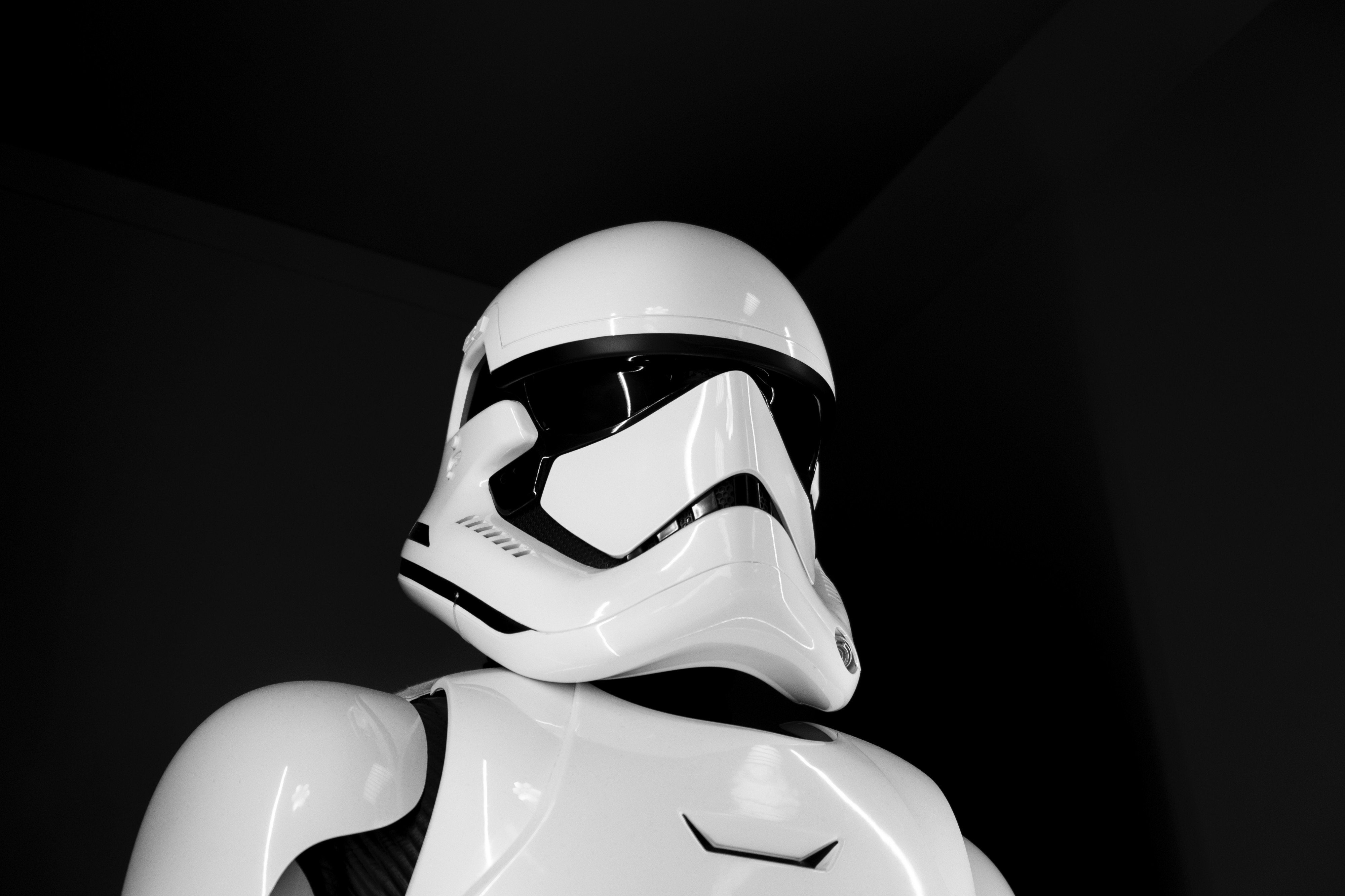 Star Wars Stormtrooper offering protection
