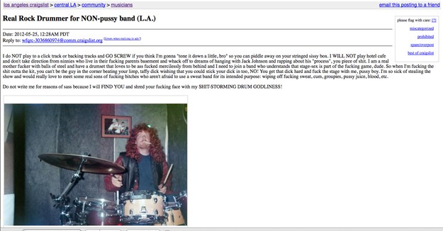 Answering Musician Wanted Ads on Craigslist Are Always an Adventure