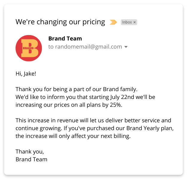 Price Increase Sample Letter from miro.medium.com