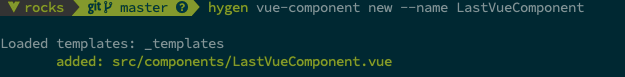 Create a component with the name LastVueComponent