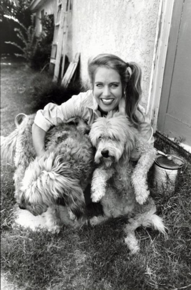 Charlotte Laws with two of her dogs