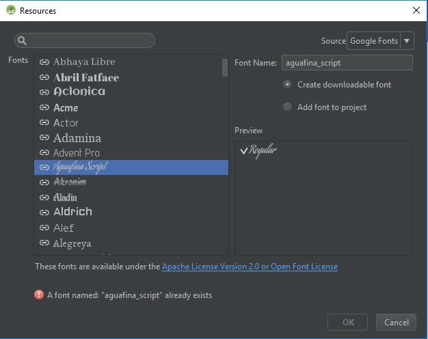 Downloadable Fonts In Android Studio - AndroidPub