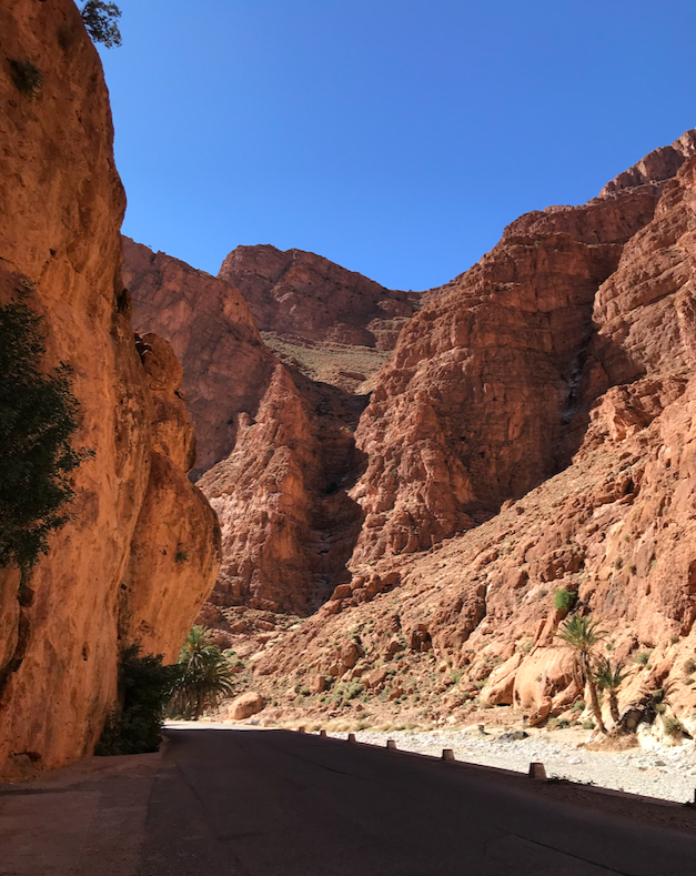 Sport climbing in Todra Gorge, Morocco