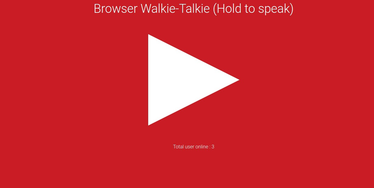 How to make a browser walkie-talkie using Node JS and Socket IO