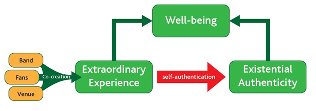 The self authentication process at rock concerts