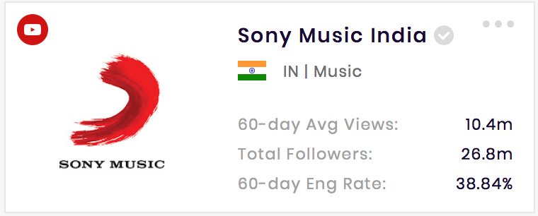 Sony Music India is one of the top music titles in the Indian music industry.
