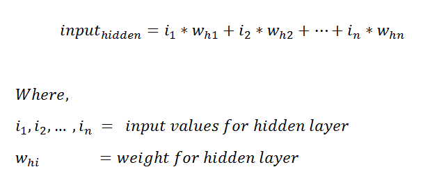 Figure 31: Finding the input for our neural network's hidden layer.