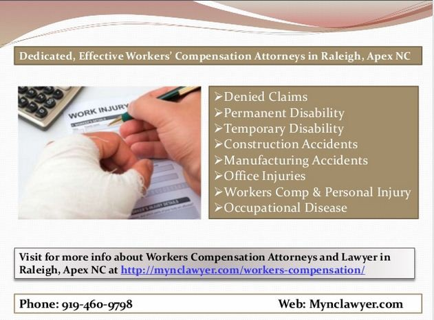 Workers Compensation Attorney Lawyer Raleigh, Apex NC