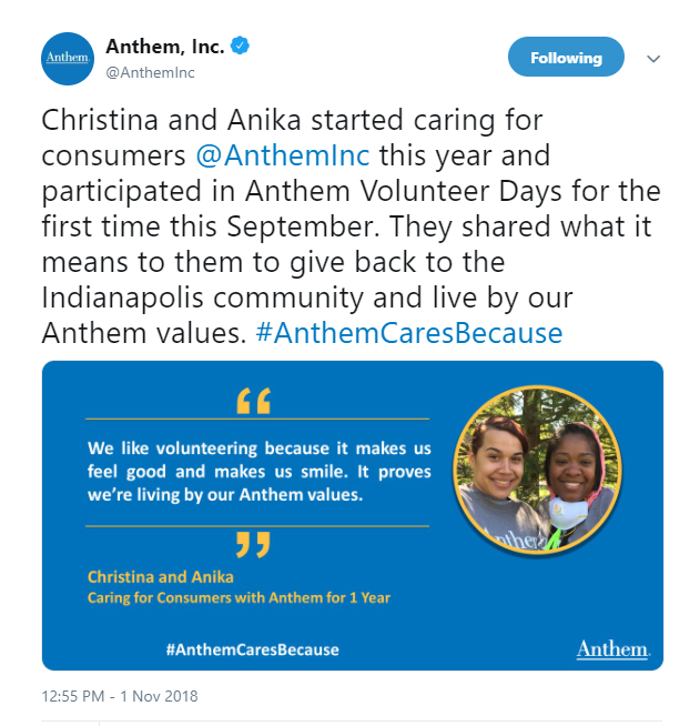 10 Personal Stories of Service that Capture Anthem Volunteer