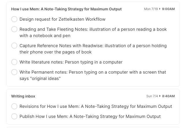 note taking strategy