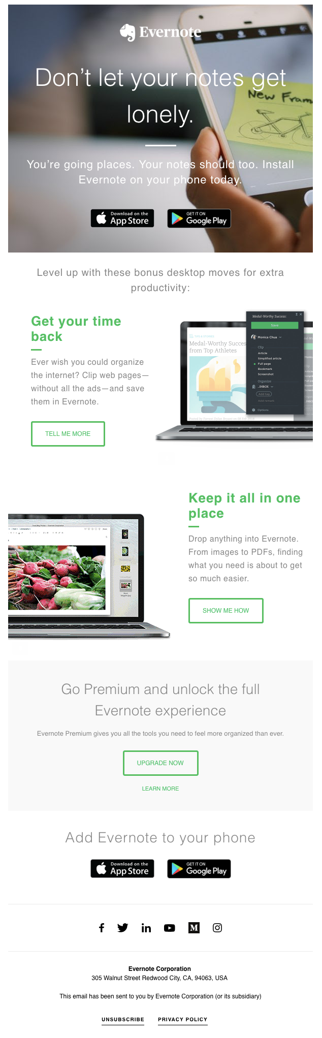 Evernote Basic Onboarding Email Breakdown - Get Your SaaS On Board