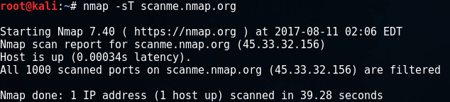 Difference between Nmap TCP SYN Scan and TCP Connect Scan