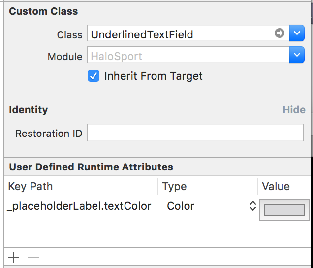 iOS: Underlined text field–the Interface Builder way