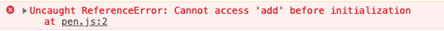 When we run the above code this is the error thrown