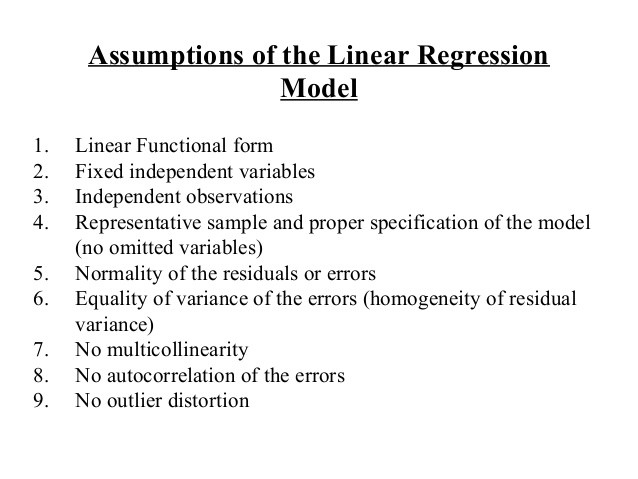 Image result for assumptions of linear regression