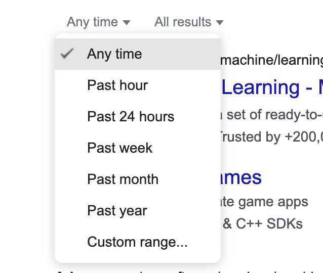 Search with refined timeframe, so you get more recent results