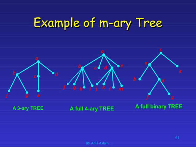Example of m-ary trees