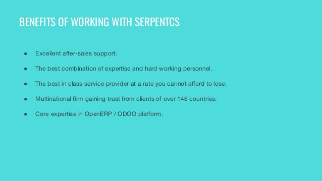 Serpent Consulting Services Pvt Ltd  Odoo Open ERP CRM