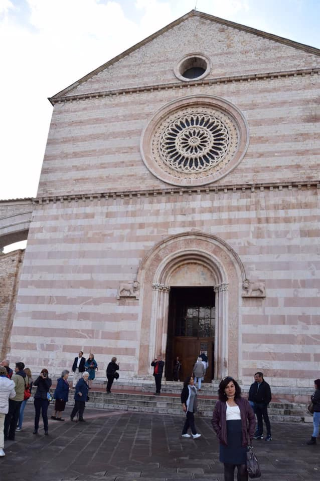 This picture is in front of the Bascillica at Assisi in the Umbria region of Italy