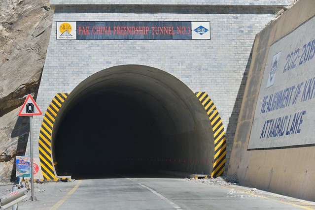 """""""Pakistan China Friendship Tunnel N°3 """"- One the tunnels to by pass recent Attabad Lake—Photo © Bernard Grua 2018"""