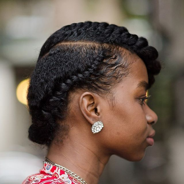 The braided up-do style