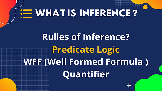 Rulles of Inference? Predicate Logic WFF (Well Formed Formula ) Quantifier
