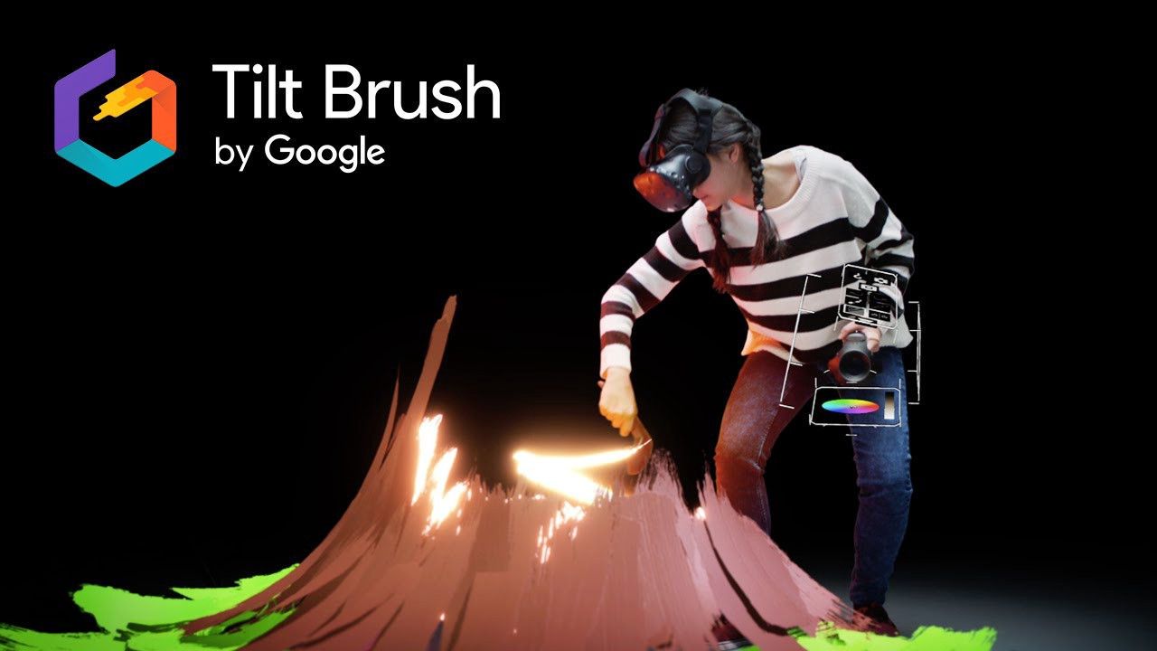 Tilt brush by google to paint in vr