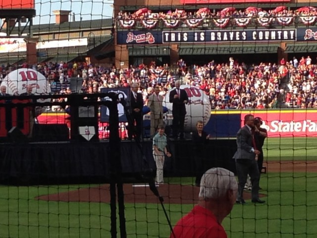 Michael Canzian—at the Braves game