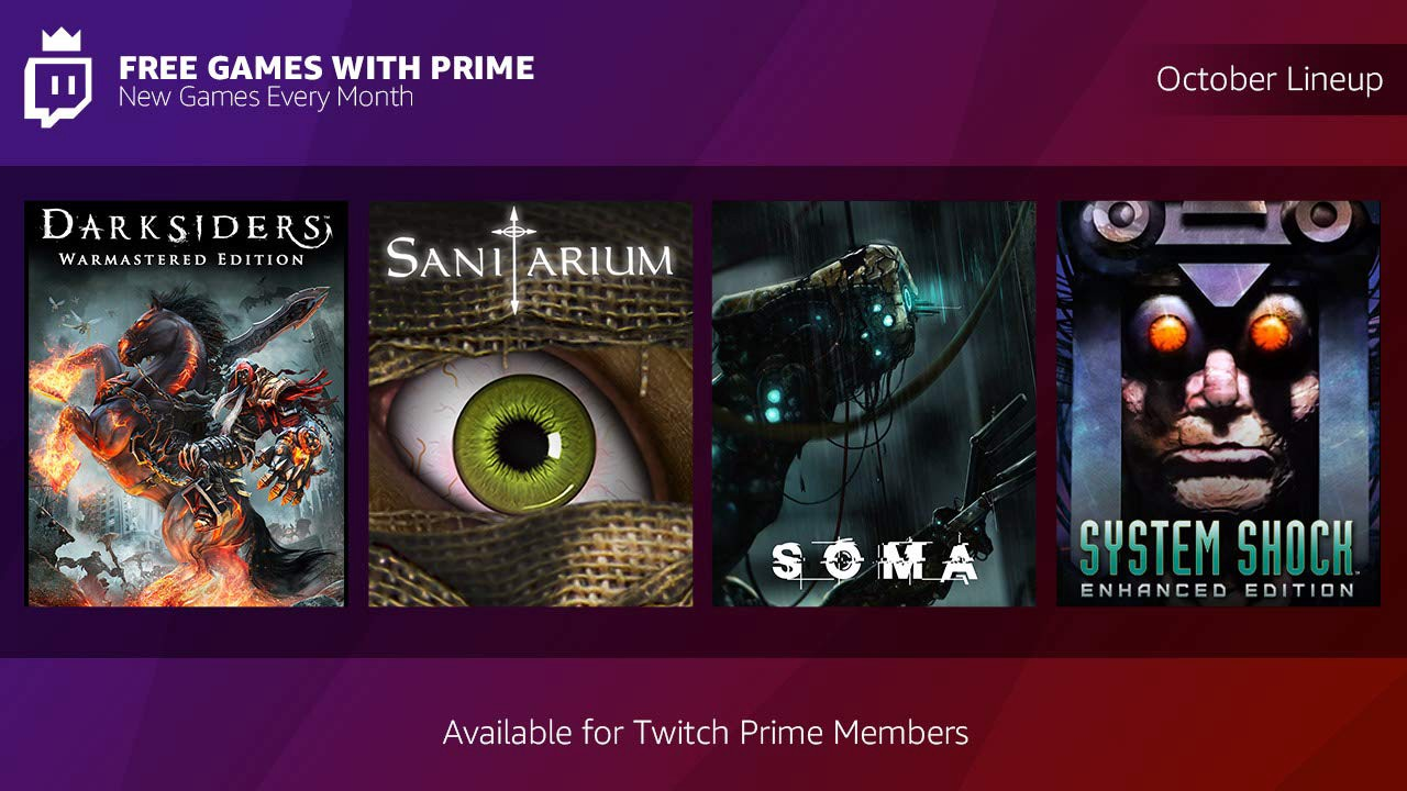 Treat yourself in October with Free Games with Prime
