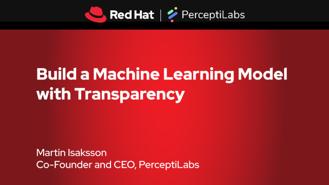 Red Hat artificial intelligence machine learning webinar