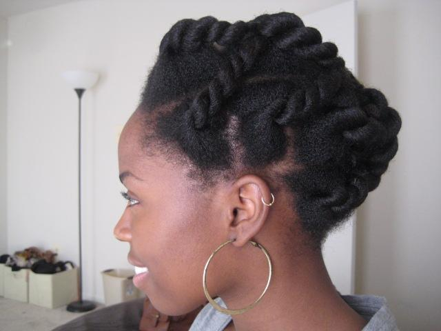 The twisted updo style