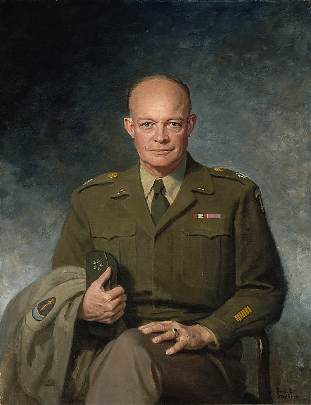 Portrait of General Dwight D. Eisenhower from 1947.