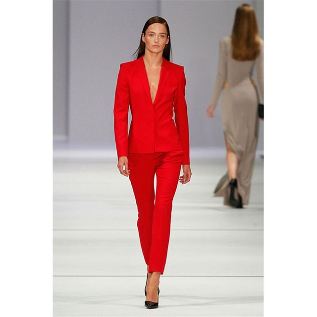 red suits women